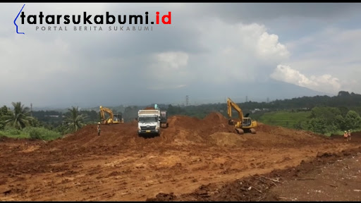 Progres pembangunan Jalan Tol Bocimi Seksi II Cigombong Cibadak / Foto : Isep Panji (10/9/2019)