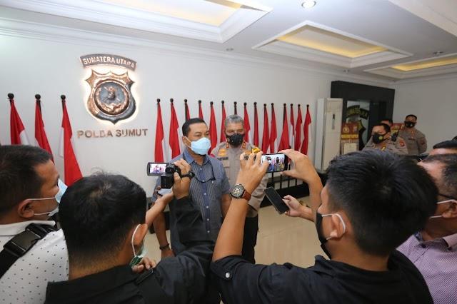 Kapolda Sumut Terima Audiensi dari Koordinator Wilayah I KPK RI