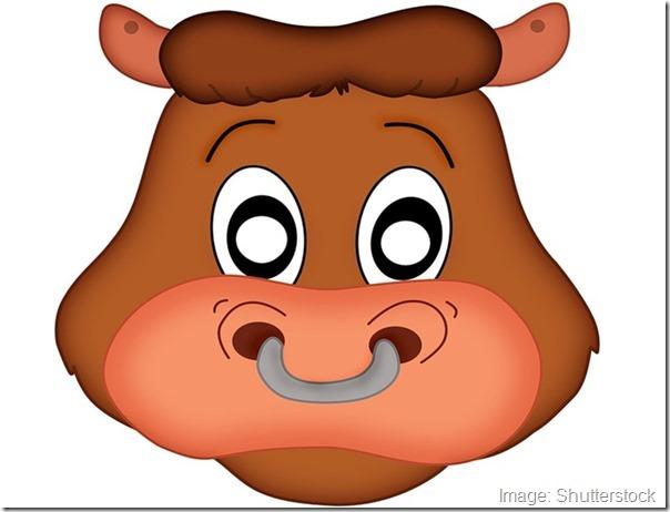 kids-face-masks-templates-halloween-bull-brown