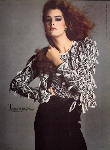 US Vogue febrero 1980: Brooke Shields