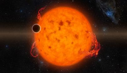 ilustração do exoplaneta K2-33b