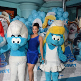 WWW.ENTSIMAGES.COM -    Maria Kouka at     The Smurfs 2 - gala film screening at Vue West End (Leicester Square), London, July 28th 2013                                                  Photo Mobis Photos/OIC 0203 174 1069