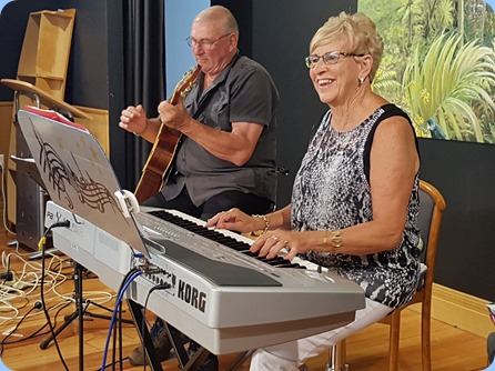 Our evening band music was provided by Jan and Kevin Johnston. They certainly know how to get the residents and Club members on their feet and dancing!.