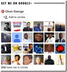 Google plus followers gadget in Blogger