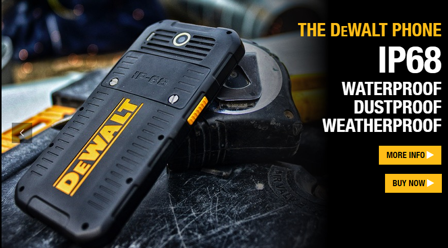 Image of The DEWALT MD501 is a rugged Android smartphone, built to exacting DEWALT standards. The handset combines high-end performance and ease-of-use with a robust, rugged construction to deliver an unparalleled range of features and reliable user experience wherever required – at home, at work, at play.