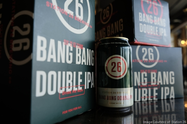 Station 26 Brewing Bang Bang Double IPA Now Available in Canned 6-Packs