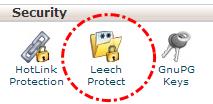 Tombol Leech Protect