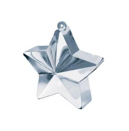 Ballongtyngd - Stjärna silver