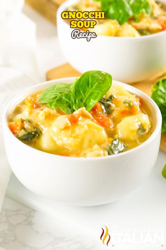 Gnocchi Soup Recipe in a bowl