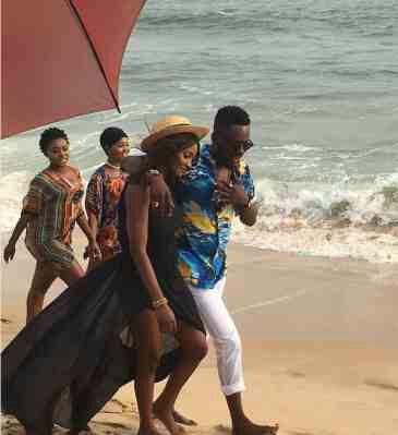 Simi and Adekunle Gold hit the beach! (Photos)