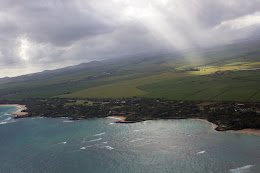 North Shore Maui from 1500ft.