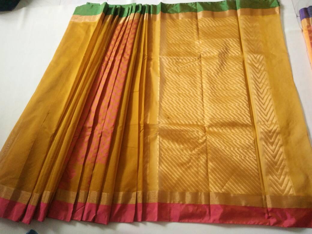 a611b49969d84b PB   Kora Cotton Plain Saree  Rs. 1500