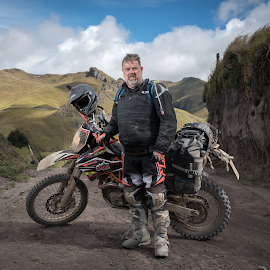 by Chris Smith - People Portraits of Men ( motorcycle, adventure, motorbike, mountain, motocross, motorcycles, man, portrait )