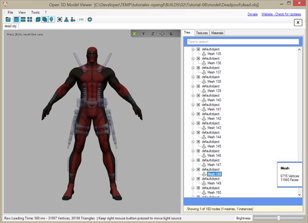 model mesh tutorial opengl