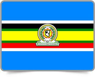 East African Community framed flag icons with box shadow