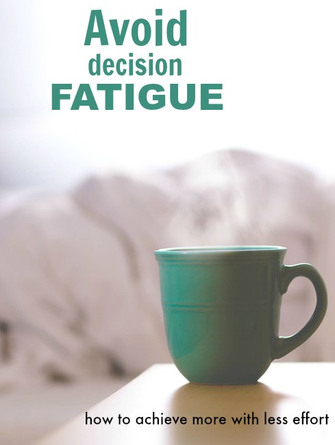 Is decision fatigue holding you back? Learn how to achieve your weight loss, running or healthy eating goals with less effort