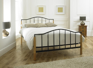 Popular LB beech wood u matt black bed frame available