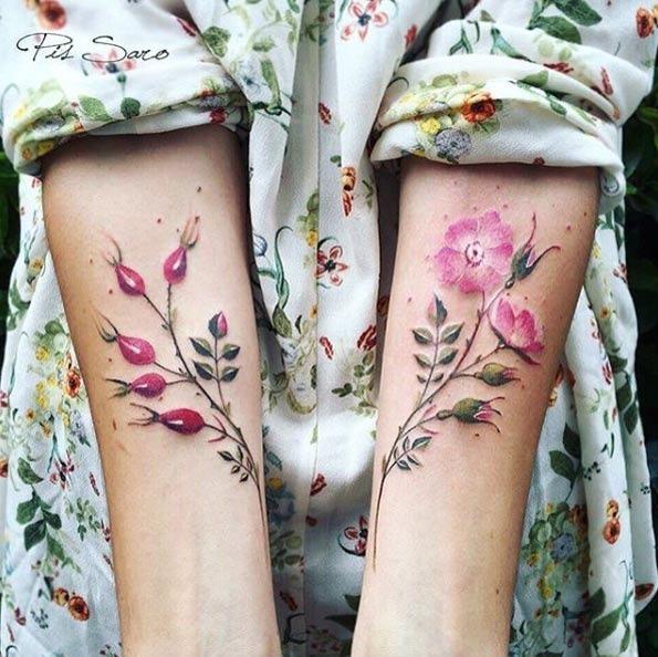 Estes antebraço florais