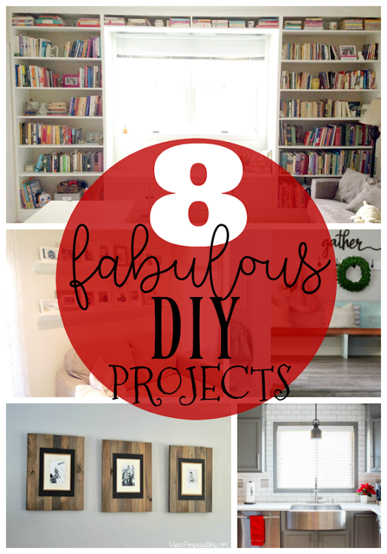 8 Fabulous DIY Projects at GingerSnapCrafts.com #DIY #forthehome
