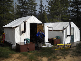 Old friend Gary Finnestad in Tuolumne Meadows. I stayed in the tent on the right.