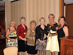 Former presidents, from left, Jennifer Armstrong, Karen Boeckman, Linda Bowden, Emmie Coleman, Dorene Badalamenti were honored along with current president, Pat Fleming, far right.