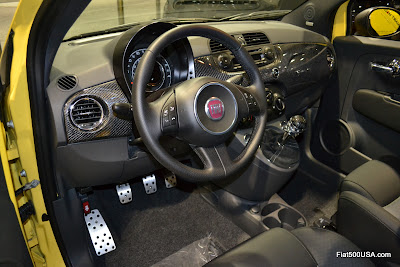 Fiat 500 Carbon Fiber Dash by 500 Madness