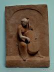 "Relief ""Cellistin"" Gips f. Bronze 1978"