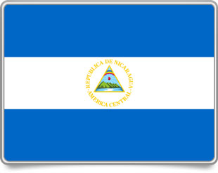 Nicaraguan framed flag icons with box shadow