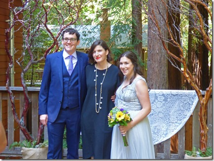 Michael, Officient, Anna -- Michael and Anna, Wedding Day, Camp Meeker California, July 21, 2018