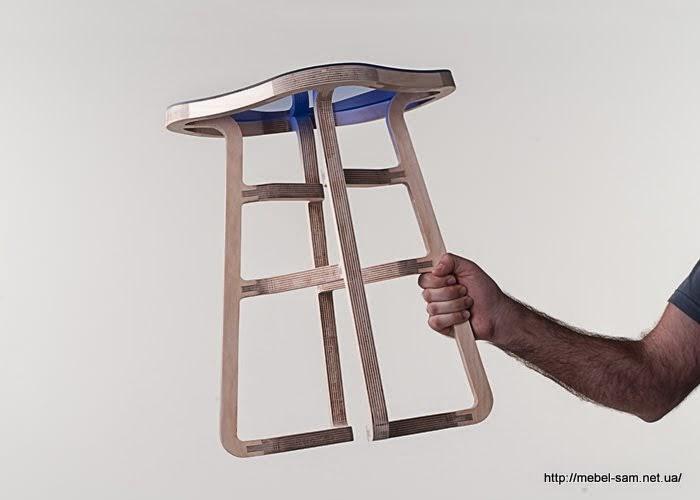 Не смотря на то что стул сделан из фанеры он легок