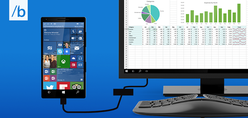 Continuum turns Windows 10 Phones into Desktops