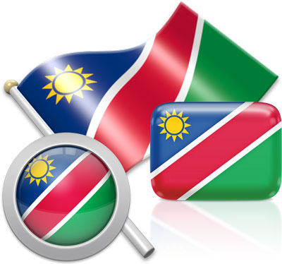 Namibian flag icons pictures collection