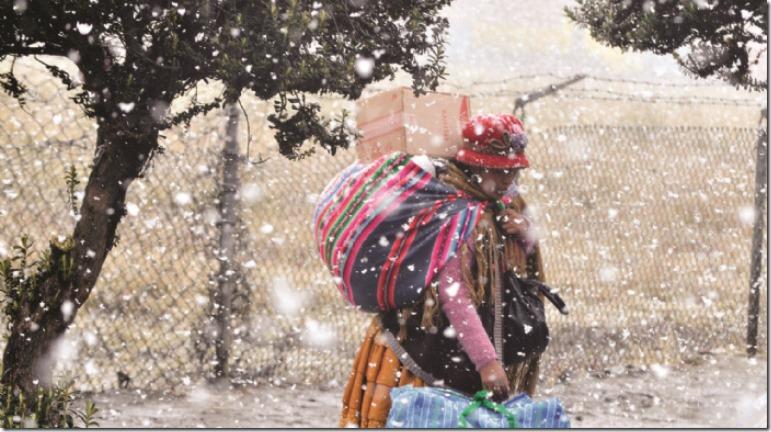 El día más frío en La Paz