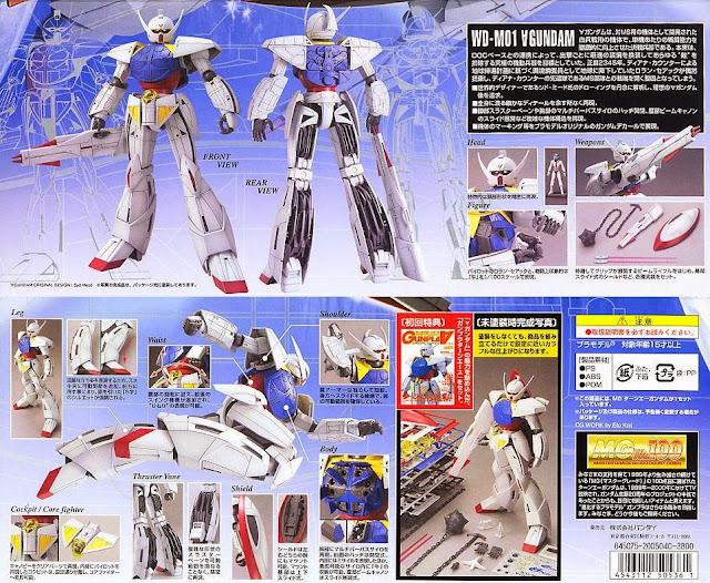 Đồ chơi lắp ghép mô hình WD-M01 Turn A Gundam tỷ lệ MG 1/100 dành cho trẻ em trên 15 tuổi