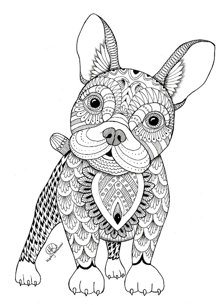 Cute Kitten Coloring Page Ms See More Zentangle Dog Artist  Midzy  Kreskami