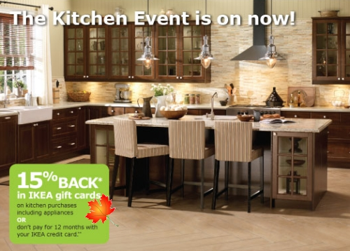 Interior Ikea Kitchen Event canadian daily deals ikea canada kitchen event 15 back in gift cards feb 28 mar 27