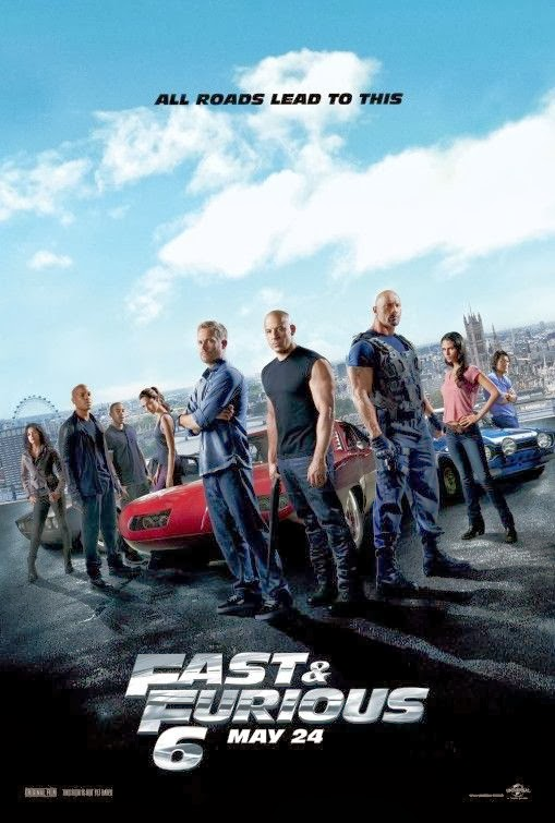 Poster Of English Movie Fast & Furious 6 (2013) Free Download Full New Hollywood Movie Watch Online At Alldownloads4u.Com