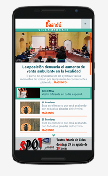 La aplicación móvil se encuentra en PlayStore y App Store.