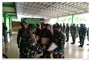 Acara Korps Raport Kembali Satgas Apter Gel-ll Dan Wisuda Purna Tugas Personil  Kodim 0427/Way Kanan