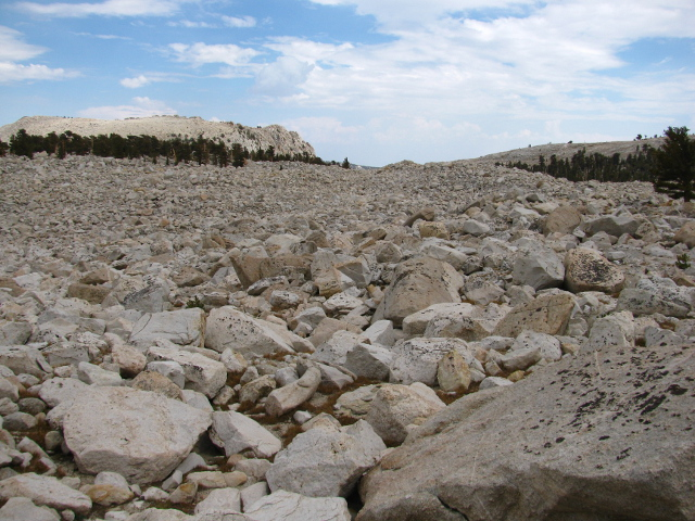 granite talus slope
