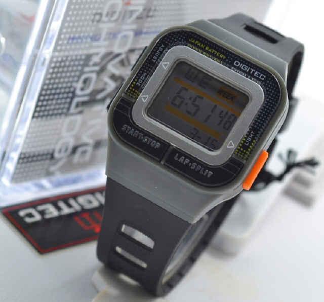 Jual jam tangan Digitec DG3026T black rubber grey