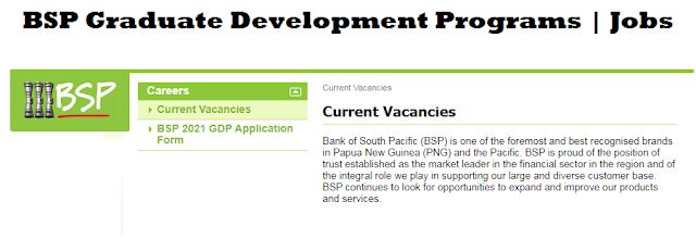 BSP graduate development program