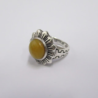 Sterling Silver and Stone Ring