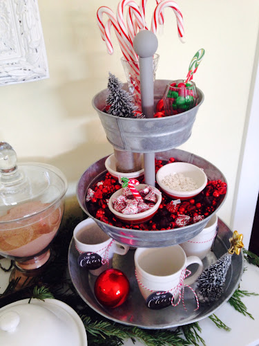 3 tiered hot chocolate bar, cup of cheer