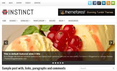 Template Magazine Blogspot 2012
