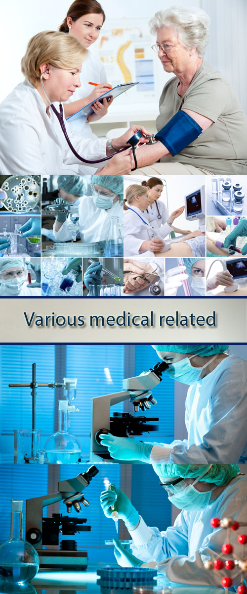 Stock Photo: Various medical related images in a collage