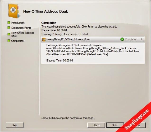 Hướng dẫn tạo Offline Address Book