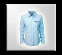 Camisas de mujer en Oxford para oficina con bordado empresarial.