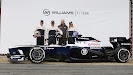 Williams FW35 with Pastor Maldonado, Valtteri Bottas & Susie Wolff