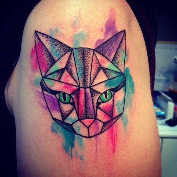 gato_de_espaço_braço_de_tatuagem